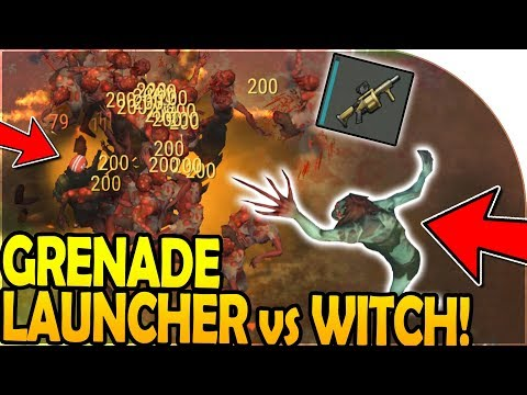 GRENADE LAUNCHER vs THE WITCH (TONS of KILLS!) - Last Day On Earth Survival Update 1.8.5