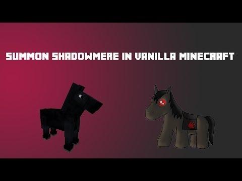 Summoning Shadowmere in Vanilla Minecraft - 1.7 Concept & Tutorial - Summoning a Dark, Named Horse!