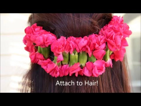 How to Make a Pink Carnation Hair Garland