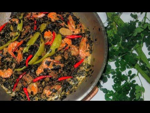 Ginataang Malunggay with Shrimps