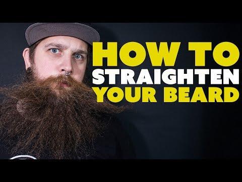 How to straighten your beard  - BEARD TALK