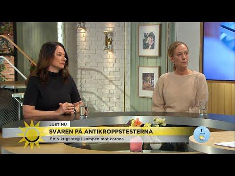 """""""20 % av personalen har utvecklat antikroppar"""" – Nytt tillförlitligt test prövas … - Nyheterna (TV4)"""