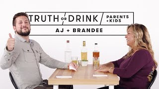 Parents and Kids Play Truth or Drink (AJ & Brandee)
