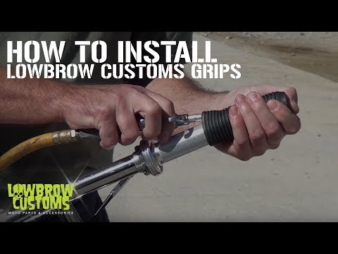 Basic Motorcycle Handlebar Grip Info and Install