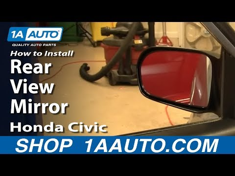 How To Install Replace Side Rear View Mirror Honda Civic 01-05 (VIN starts with 2) 1AAuto.com