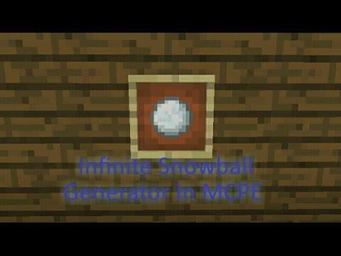 How to make an Infinite Snowball Generator In Mcpe