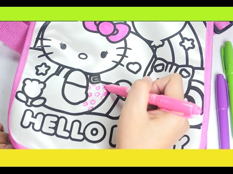90db6c96a264 Hello Kitty coloring tote bag - Hello Kitty Doodle Messenger Bag ...