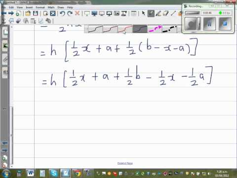 Proof of area of a trapezium = 0.5 (a+b)h