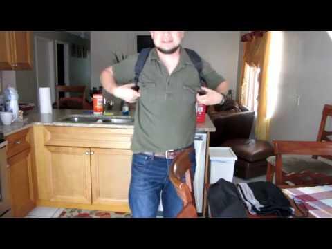 DJI Mavic Pro Osmo Backpack not Military Style Unpacking