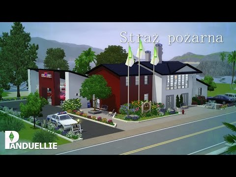 The Sims 3: Sunset Valley Rebuilding - Fire Station [Timelapse]