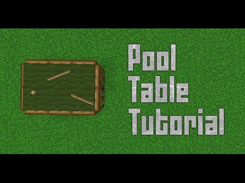 Minecraft Pool/Snooker Table Tutorial