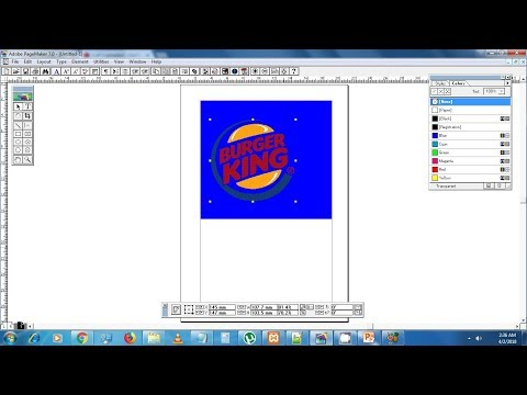 How to import transparent image in Pagemaker