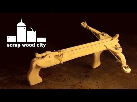 DIY mini crossbow, made of plywood