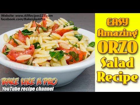 Easy Amazing Orzo Salad Recipe ( Pasta Salad Recipe )