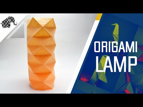 Origami - How To Make An Origami Lamp