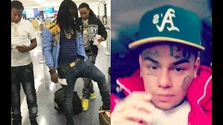 6ix9ine LEAVES the HOOD after Receiving THREATS From Chiraq Savage Tadoe