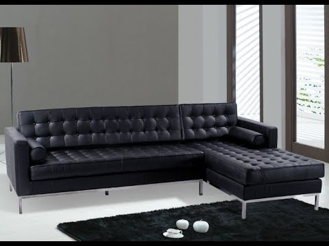 The Black Leather Sectional Couch for Your Living Room Ideas