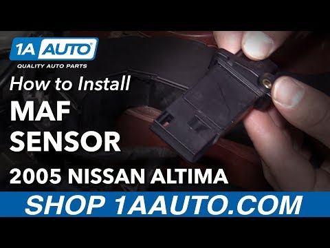 How to Clear P0102 Code Replace Mass Air Flow Sensor 2004-12 Nissan Altima L4 2.5L