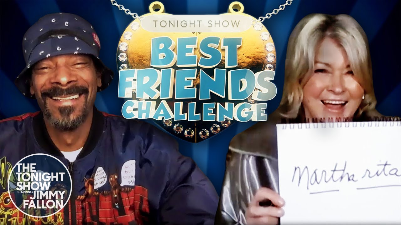 Best Friends Challenge with Snoop Dogg and Martha Stewart | The Tonight Show Starring Jimmy Fallon