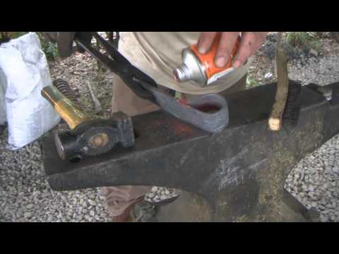 Forge Railroad Spikes Into Tomahawk or Hatchet | Forge Welding