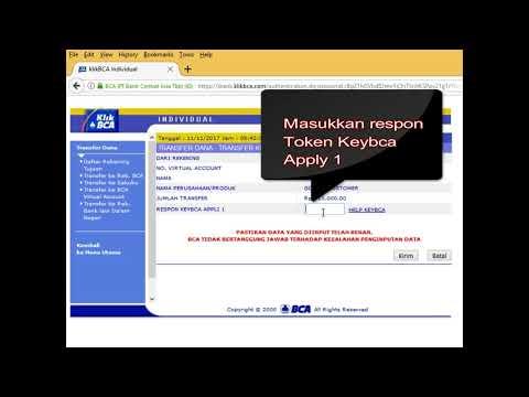 Cara Deposit / Top Up Saldo Gojek KlikBCA Internet Banking