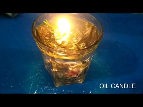 how to make   coconut oil candles / chrismas decoration ideas/ water candle/ floating candle