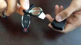 (CR2025) - Mercedes key fob battery replacement. Year 2004 - 2014 C, E, CLK, GL, S class.