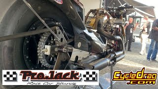 SUPER TRICK STAND NHRA NITRO HARLEY RACERS USE TO EASILY SERVICE THEIR TOP FUEL MOTORCYCLES