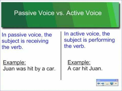 Using the Active and Passive Voice in Writing