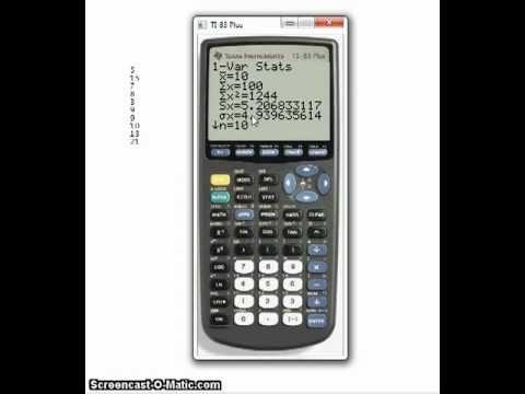 Statistics on the TI-83 Plus