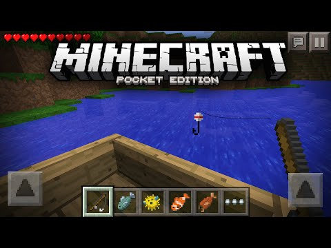 Going Fishing In Minecraft Pocket Edition! - MCPE Concept Video (0.11.0 - 0.12.0)