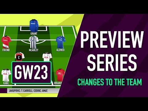 Gameweek 23 Preview | CHANGES TO THE TEAM | Fantasy Premier League 2016/17
