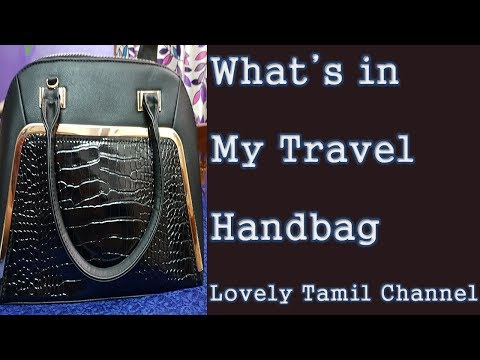 What's in My Travel Handbag || In Tamil