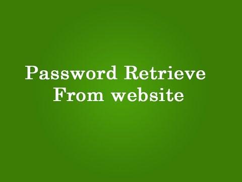 password retrieve from website