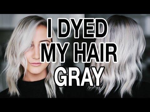 DYING MY HAIR GRAY / SILVER HAIR Q+A