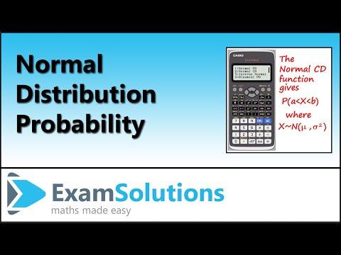 Normal Cumulative Distribution on a Casio ClassWiz Calculator | ExamSolutions