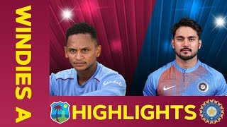 West Indies A Vs India A Match Highlights 2nd ODI 2019 India A Tour Of West Indies