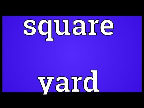 Square yard Meaning