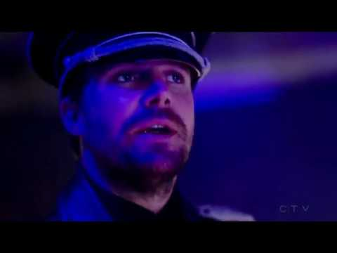 The Flash 4x08 Quentin from Earth X attacks Oliver/ Red Tornado appears