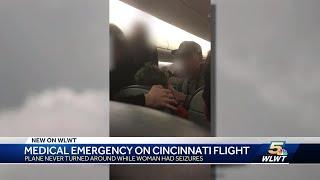 Medical emergency leads to frenzy on Cincinnati-bound flight