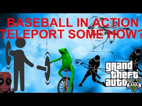 GTA 5 Online l Funny Moment (Baseball, Teleport!!!)