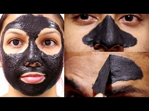 Charcoal Peel off Face Mask(No Glue,No Gelatine) | Remove blackheads,whiteheads without pain