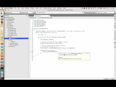 Xamarin Android - How to Create a Really Simple Android App