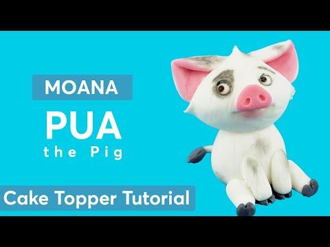 Moana: PUA the Pig Cake Topper Tutorial