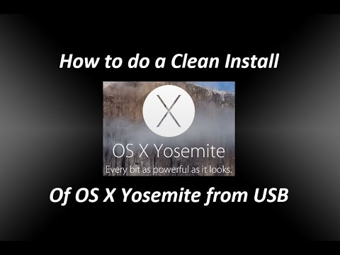 How to do a Clean Install of OS X Yosemite from USB