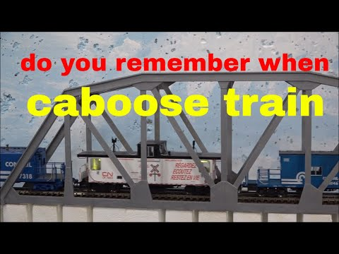 the days of the caboose are nothing but a blur