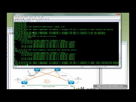 LabMinutes# SEC0004 - Cisco DMVPN Redundancy and Failover with Dual Hub Single Cloud Configuration