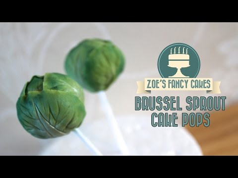 Brussel sprout cake pops: How to make cake pops and decorate them like sprouts