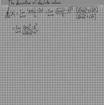 The Derivative of The Absolute Value of x