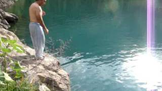 swimming in Foroqtho Kachura, Skardu, Baltistan, Pakistan
